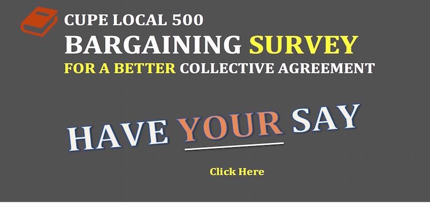 CUPE Local 500 (City of Winnipeg) Bargaining Survey 2016